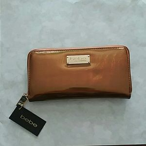 Bebe wallet NWT beautiful copper iridescent bag